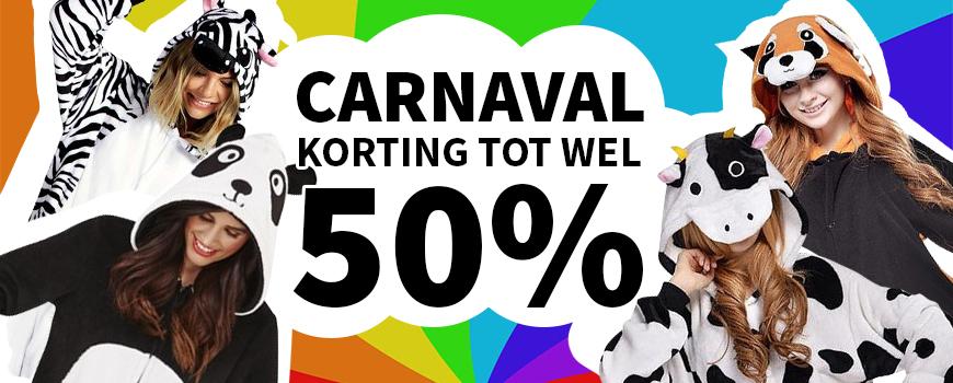 Carnaval: Korting tot wel 50%