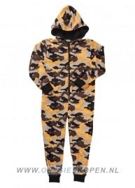 camouflage legerprint onesie_kids_oranje