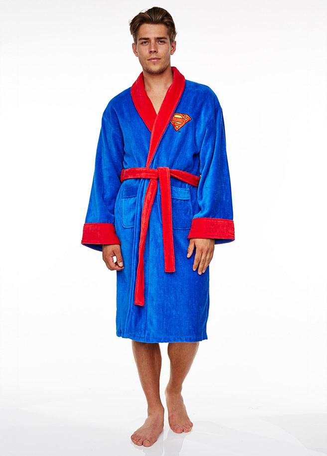 Superman badjas voor