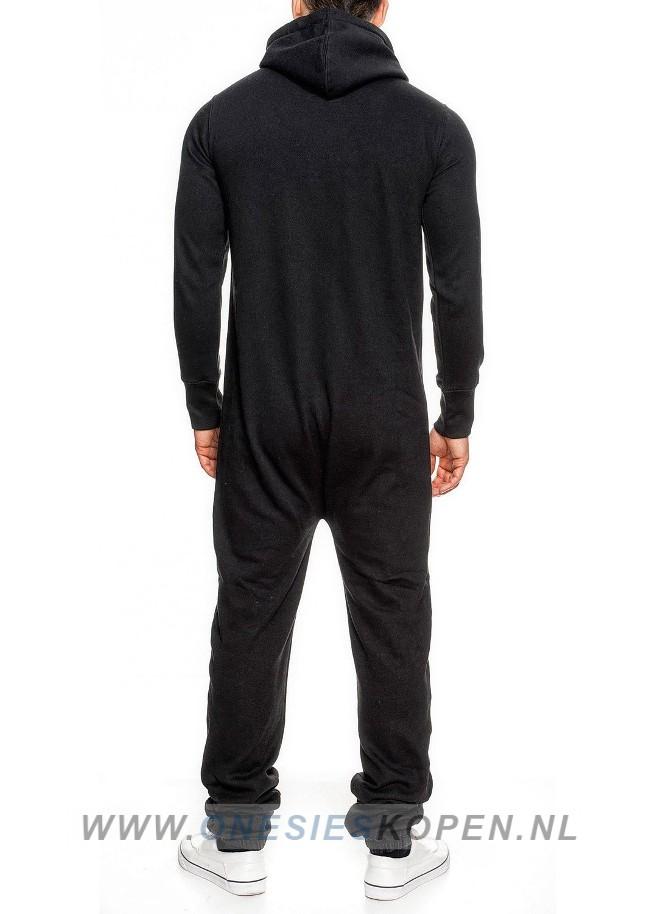 Zwarte onesie achter