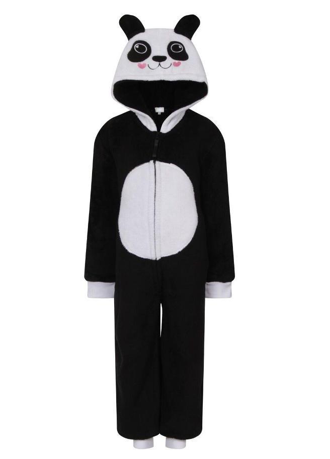 Onesie Kids panda zwart wit