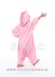sazac roze eenhoorn onesie kids pink unicorn back