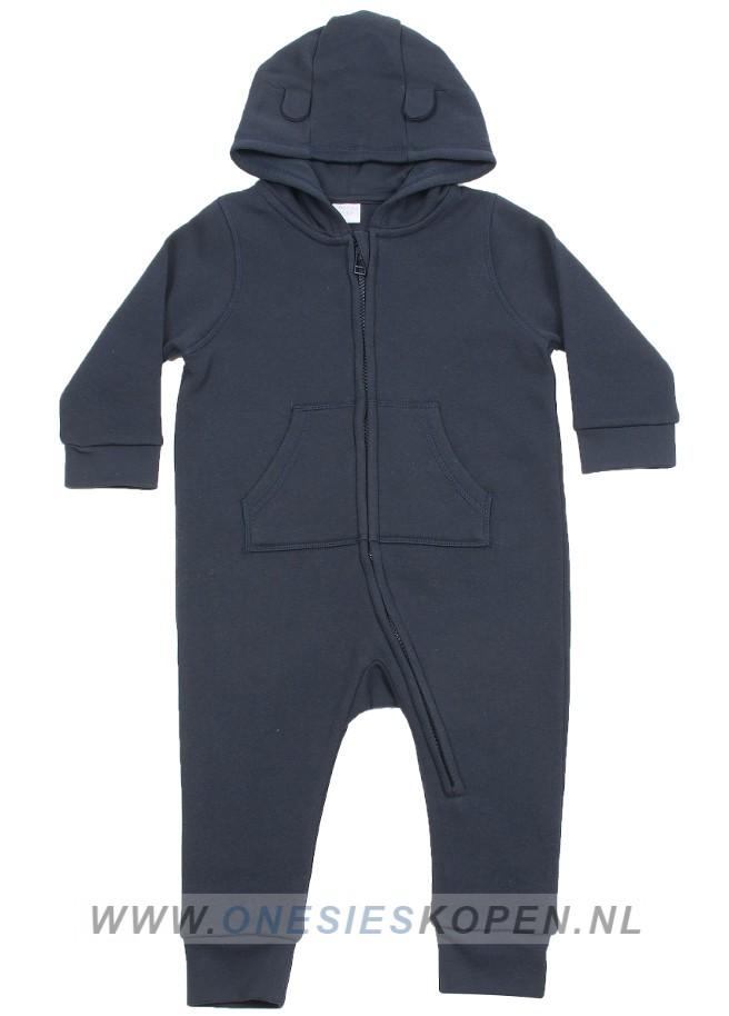 baby peuter onesie dark navy