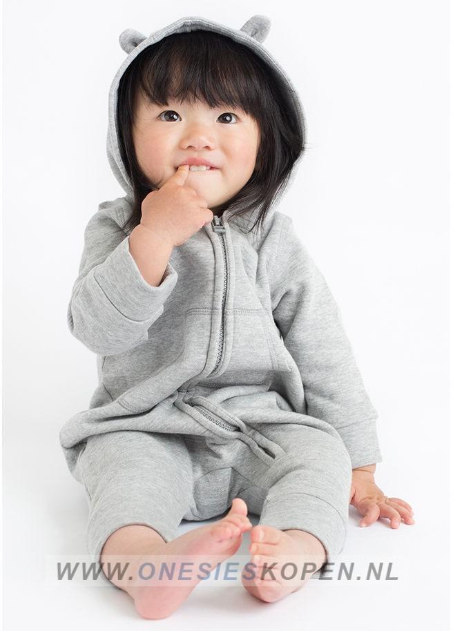 baby peuter onesie grijs meisje