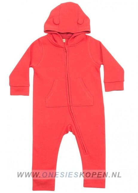 baby peuter onesie rood