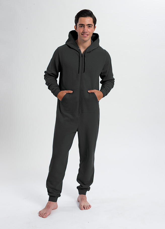 comfy onesie unisex-donkergrijs charcoal