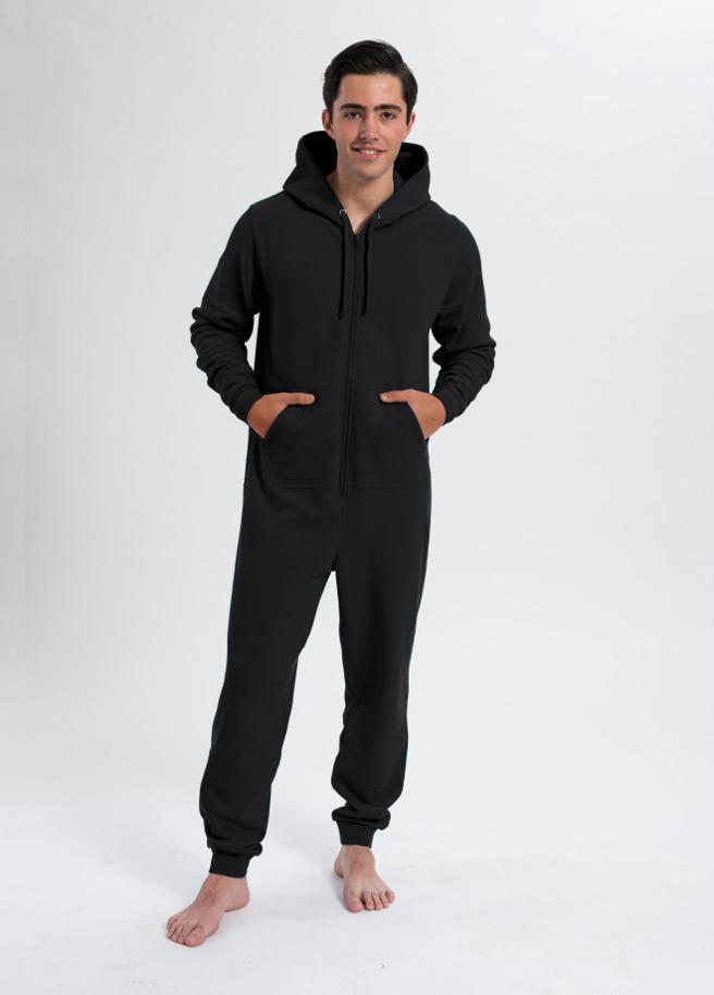 comfy onesie unisex-zwart black