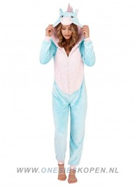 Onesie Aqua Unicorn adult