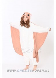 sazac flying squirrel onesie vliegende eekhoorn front