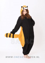 sazac red panda/raccoon onesie