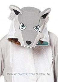 sazac ice wolf/silverwolf onesie detail