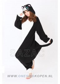 sazac zwarte kat onesie black cat