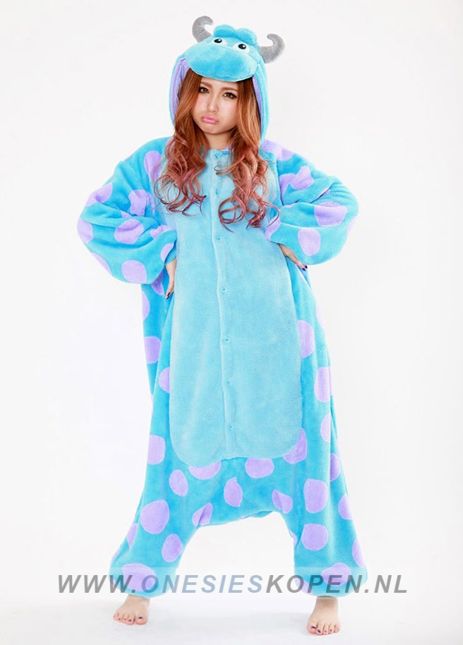 Disney Sully Monsters inc Duck onesie kigurumi sazac voor