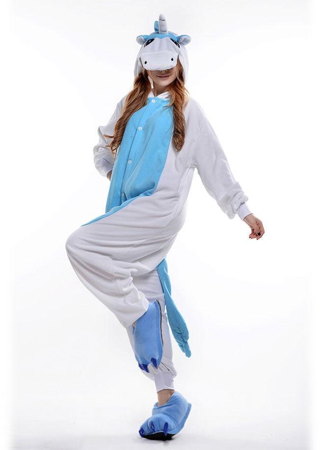 onesie eenhoorn blauw kigurumi