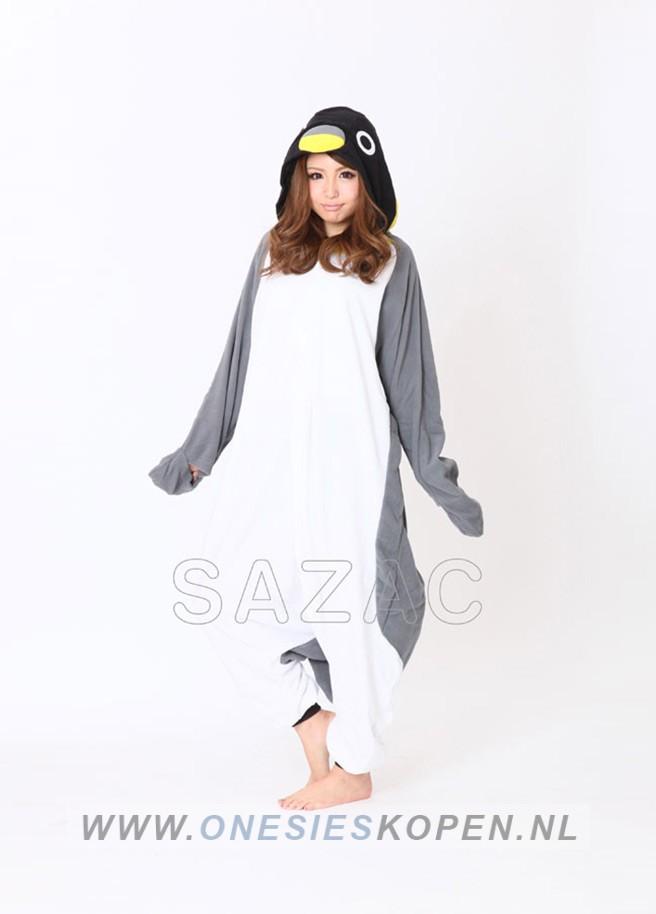 222f0fd50d3 Pinguïn onesie grijs - OnesiesKopen.nl