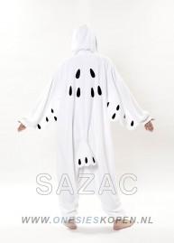 Sneeuwuil onesie kigurumi sazac achter