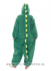 oneski skigurumi dinosaurus ski onesie back