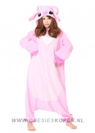 sazac-pink-stitch-angel-onesie-roze-front