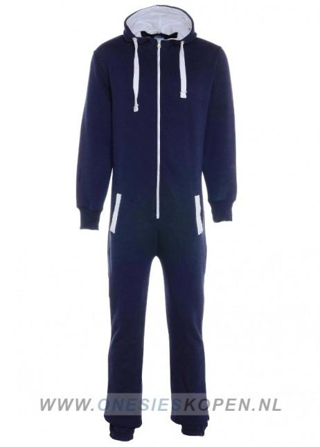 Dark Navy/Marine blauw onesie uniseks