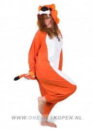 Oranje leeuw kigurumi onesie