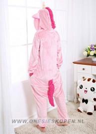 Onesie roze eenhoorn kigurumi achter