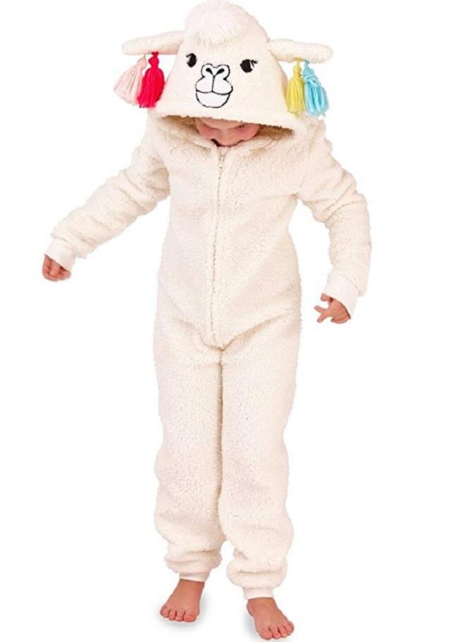 Onesie alpaca kids hood