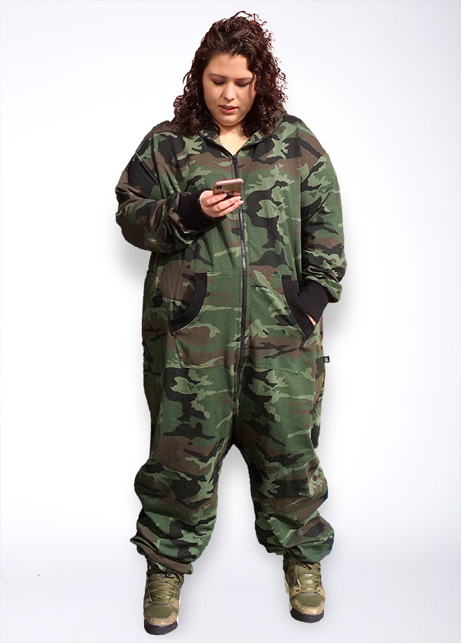 Sofa Killer Plus Size Camouflage legerprint armyprint onesie