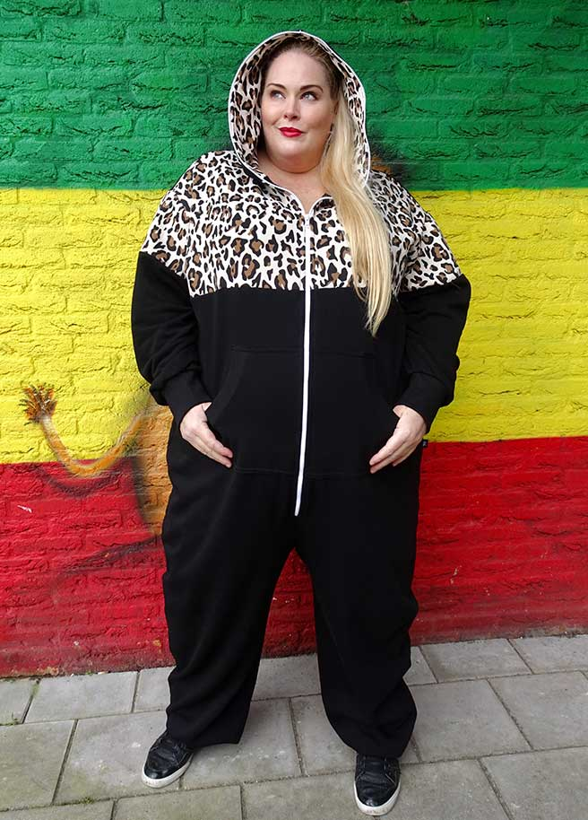 Sofa Killer Plus Size onesie leopard luipaard adults
