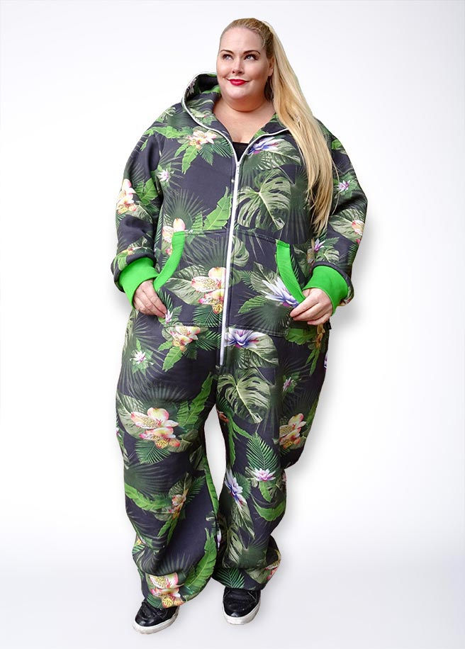 Sofa Killer tropical Plus Size onesie adult front
