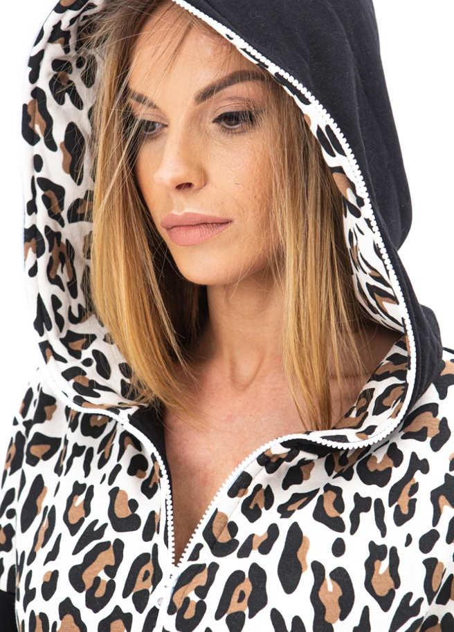 SofaKiller onesie leopard adult detail hood