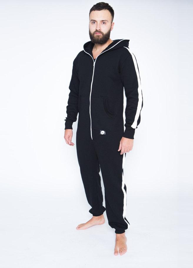 sofakiller stripe onesie black front