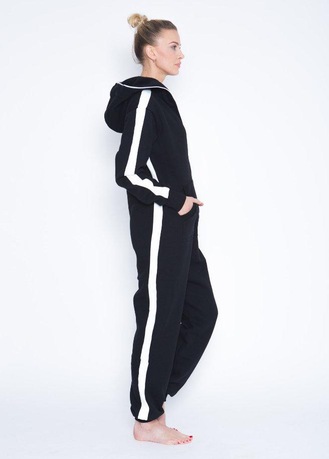 sofakiller stripe onesie black women side