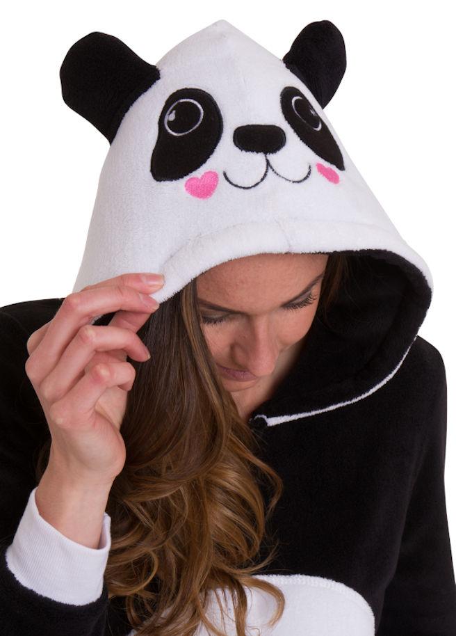 Panda onesie front detail