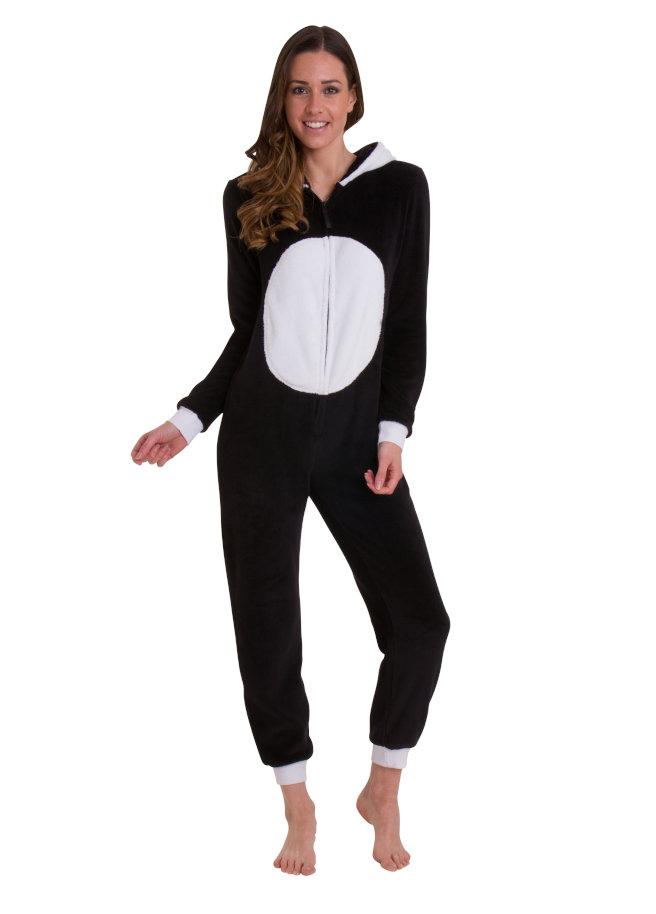 Panda onesie front no hood